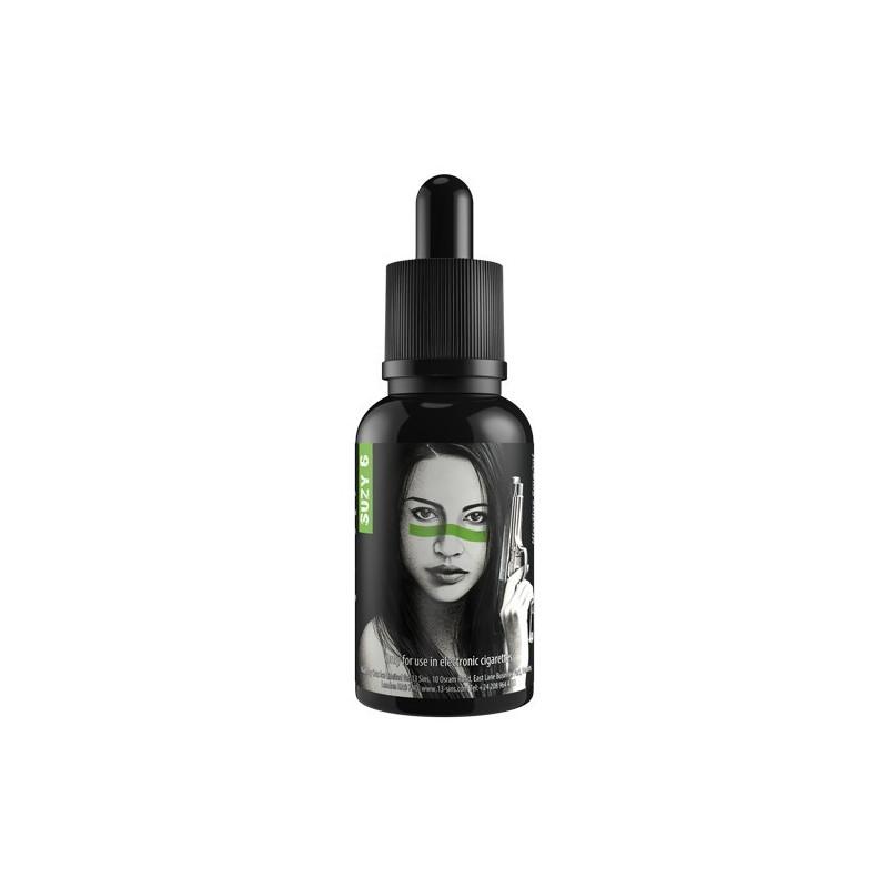 Suzy 6 - T-Juice - Un vrai liquide pour les gourmands! Vapez unbonbon aux fruitsavec une domance defraiseet quelques notes demelon,framboise,crèmeet un soupçon de...