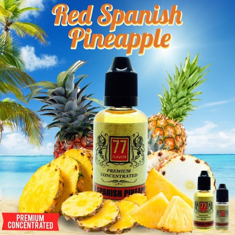 Red Spanish Pineapple Concentré 10/30ML - 77 Flavor - Le Red Spanish Pineapple, un mélange des plus exotiques Ananas que vous ayez goûté.