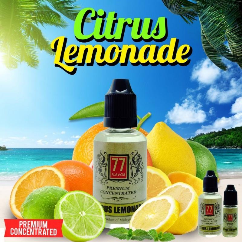 Citrus Lemonade Concentré 10/30ML - 77 Flavor - Le Citrus Lemonade, un des meilleurs jus citronnés façon limonade du marché, assez prononcé en goût.