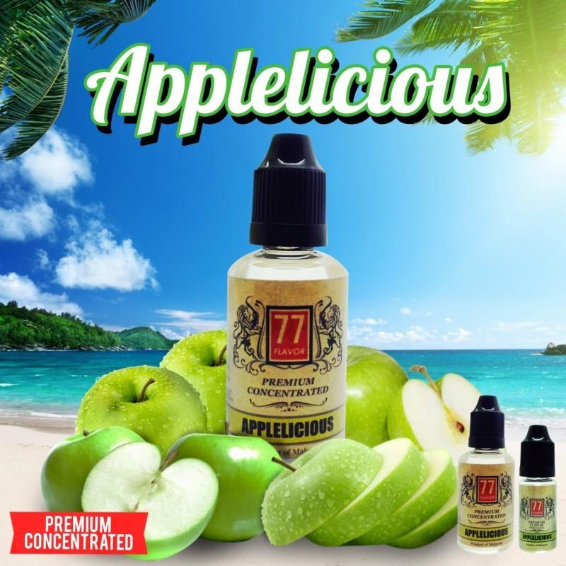 Applelicious Concentré 10ML/30ML - 77 Flavor - L'Applelicious, un mélange de jus de pomme bien vertes pour un rendu compact terrible.