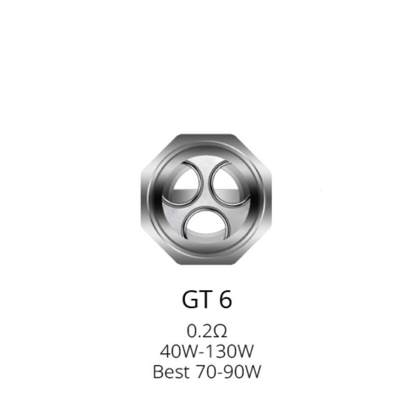 Résistances GT6 pour NRG Tank par 3 - Vaporesso