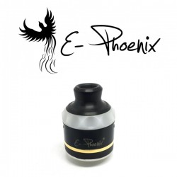 Resurrection V2 Top Cap Black White - E-Phoenix