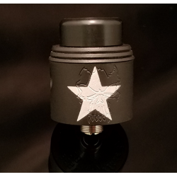 Redemption RDA Black With Silver Star Edition - Armageddon Mfg