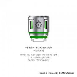 Résistances T12 Light pour V8 Baby Par 5 - Smoktech