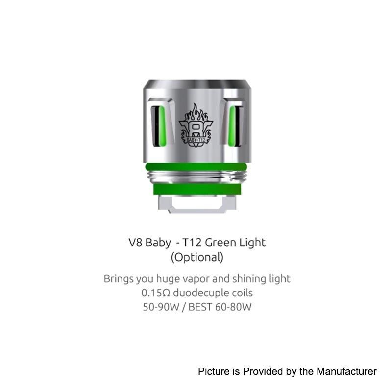 Résistances T12 Light pour TFV8 Baby Par 5 - Smoktech