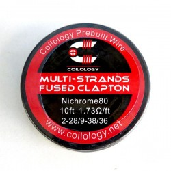 Spool Wire Multi-Strands Fused Clapton ( SS / Ni80 ) - Coilology