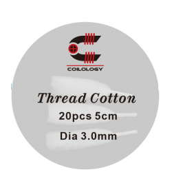 Thread Cotton 5cm(length) par 20 / 3.0mm(diameter) par lot de 10 - Coilology