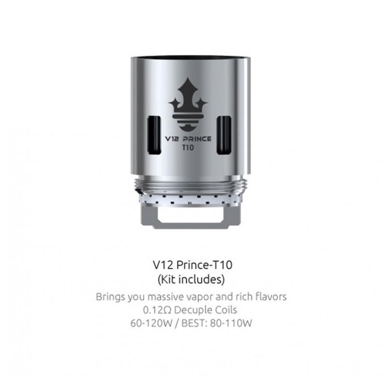 Résistances pour TFV12 Prince Q4/X6/T10 par 3 - Smoktech