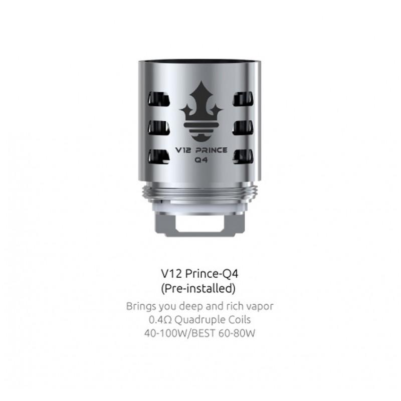Résistances pour TFV12 Prince Q4 par 3 - Smoktech