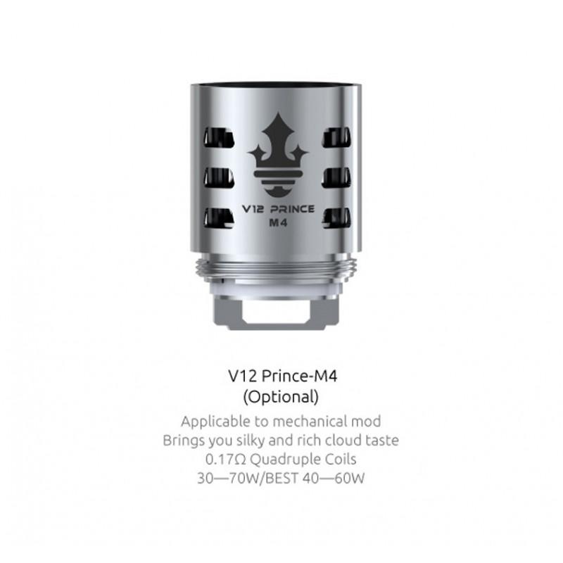 Résistances pour TFV12 Prince M4 par 3 - Smoktech
