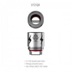 Résistances V12-Q4 pour TFV12 Par 3 - Smoktech