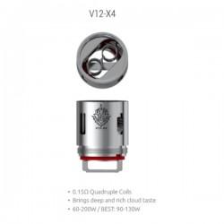 Résistances V12-X4 pour TFV12 Par 3 - Smoktech