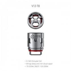 Résistances V12-T8 pour TFV12 Par 3 - Smoktech