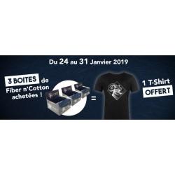 Pack 3 Boîtes + 1 T-Shirt offert - Fiber n'Cotton