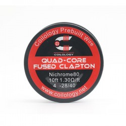 Spool Wire Quad-Core Fused Clapton par lot de 10 - Coilology