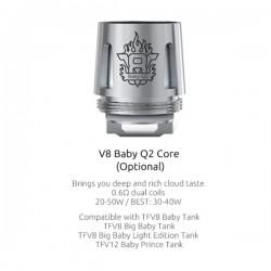 Resistances Q2 pour TFV8 Baby Par 5 0.6 - Smoktech