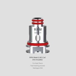 Résistances RPM40 Mesh 0.4Ω par 5 - Smoktech