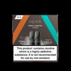 Pod Hexa Tobacco Menthol 1.7ML par 2 - Hexa