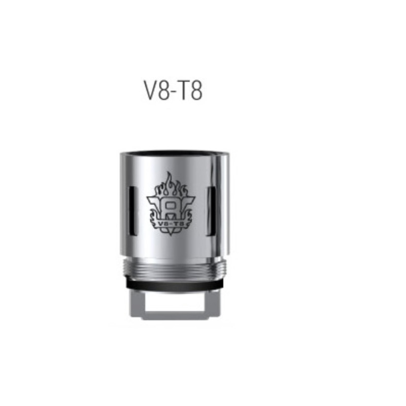 Résistances V8-T8 pour TFV8 / Par 5 - Smoktech