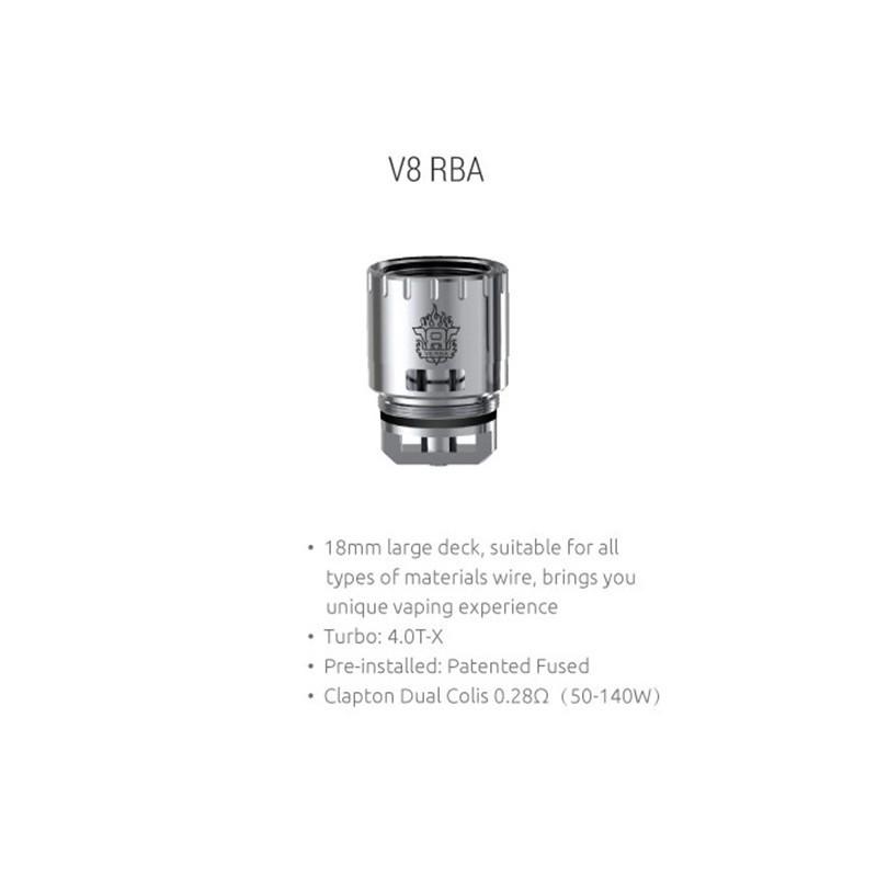 V8 RBA pour TFV8 - Smoktech