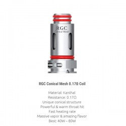 Résistances RPM80 RGC Conical Mesh par 5 - Smoktech