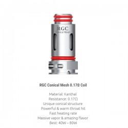 Résistances RPM80 RGC Conical Mesh par 5 - Smoktech