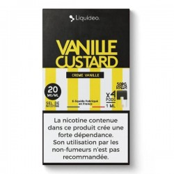 WPod Vanille Custard 10ML par 4 - Liquideo