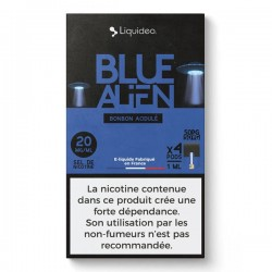 WPod Blue Alien 10ML par 4 - Liquideo