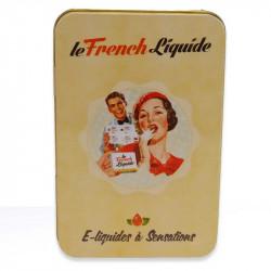 Boite en métal Le French liquide