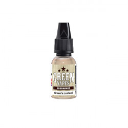 Green Vapes Gourmands - Green's Custard 10ml - Green Liquides