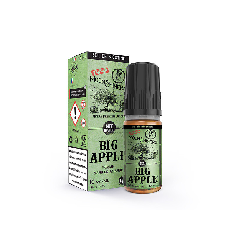 Big Apple Moonshiners 10ml NicSalt - Le French liquide