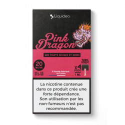 WPod Pink dragon 10ML par 4 - Liquideo