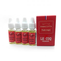 Panacotta Fruits Rouges TPD BELGIQUE 10ML par 4 - Le Coq Premium