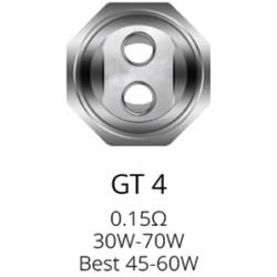 Résistances GT4 pour NRG Tank par 3 - Vaporesso