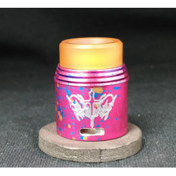 Red Cotton Candy Rapture RDA 24MM - Armageddon Mfg