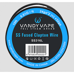 Fused Clapton SS316L Wire 24ga - Vandy Vape
