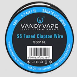 Fused Clapton SS316L Wire 28ga - Vandy Vape