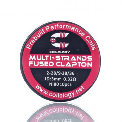 Performance Coil Multi-Strands Fused Clapton par lot de 10 - Coilology