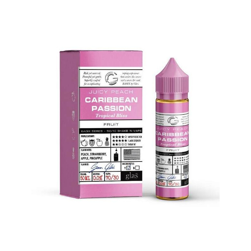 Caribbean Passion 50+10ML - Glas Vapor