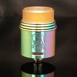 Red Black Splatter Rapture RDA 24MM - Armageddon Mfg