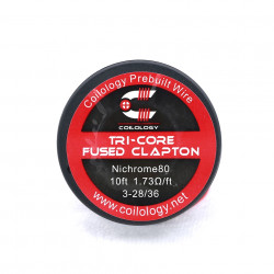Spool Wire Tri-Core Fused Clapton par lot de 10 - Coilology