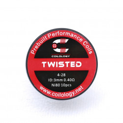 PreBuilt Performance Coil Twisted ( SS / Ni80 ) - Coilology
