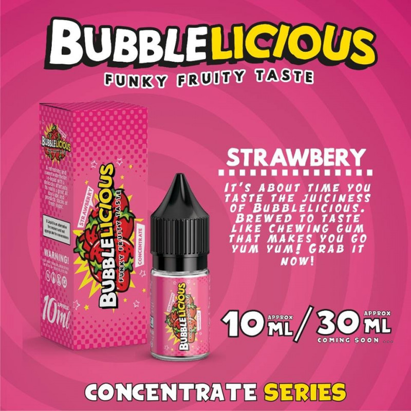 Strawberry 10ML - Bubblelicious