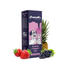 Strawberry x Pineapple x Grape Concentré 10ML - CrazyMix