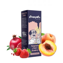 Pomegranate x Peach x Strawberry Concentré 10ML - CrazyMix