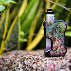 Box 13Mech Squonker Wood Door Hot Edition - Thir13en Modz