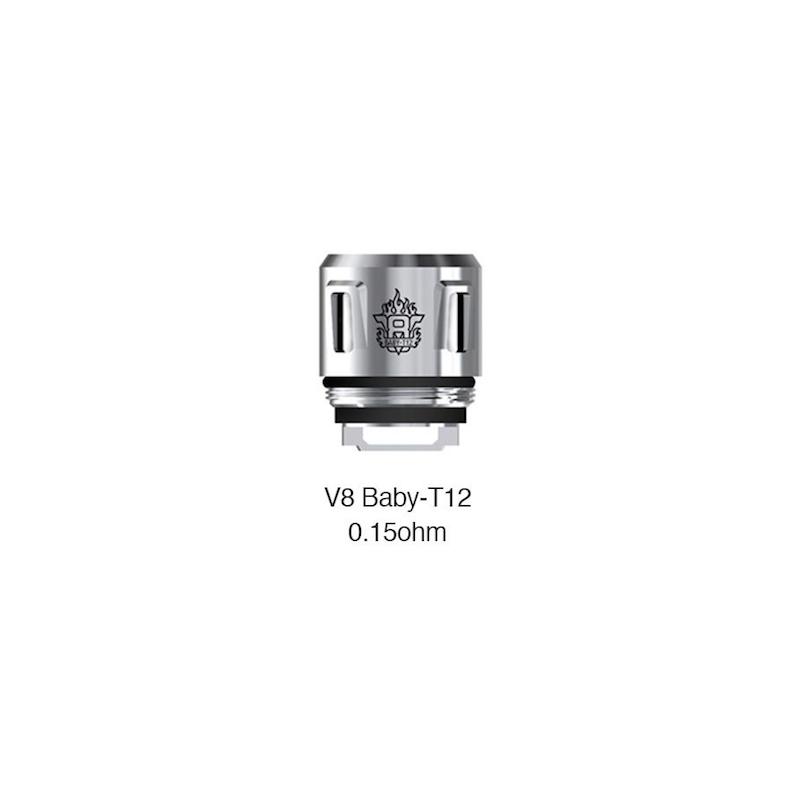 Résistances V8 Baby T12 par 5 - Smoktech
